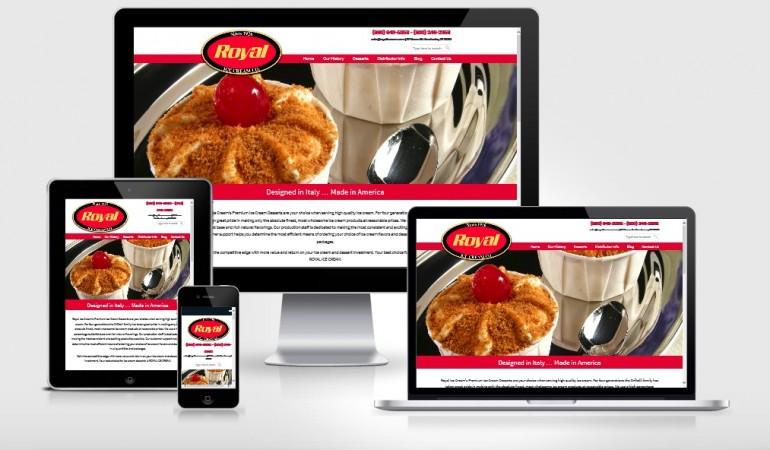 Royal Ice Cream Website